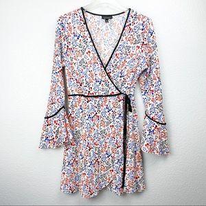 TOPSHOP PLISSE WRAP DRESS